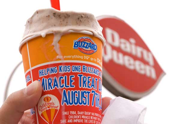 Ignore the date on the picture, today is Dairy Queen Miracle Treat Day.