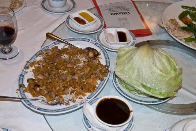 Banquet lettuce wrap